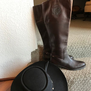 ETIENNE AIGNER EQUESTRIAN LEATHER RIDING BOOTS!